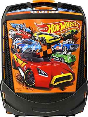New Hot Wheels Car Carrying Case Carrier 100-Car Storage Collectors Box Wheeled