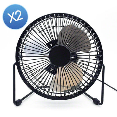 2x Jumbo 6inch USB Notebook Desk Cooler Cooling Fan Metal Construction AU Stock
