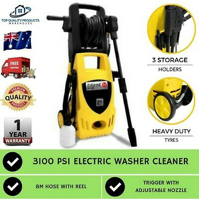 New High Pressure Washer Cleaner 3100 PSI Water Blaster Electric Pump Gurney