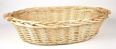 Cane Basket Wicker Oval Cane Tray With Handle