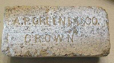 "Vintage Brick - ""A.P. GREEN F. B. CO. - CROWN """