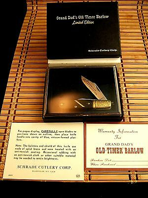 New In Display Case Schrade Usa Grand Dad's Old Timer Barlow Limited Edt. Knife