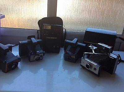 Vintage Polaroid Instant Camera Bundle Square Shooter, Super Swinger, 101 Auto