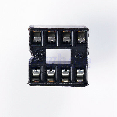10Pcs 8Pin Dip-8 Ic Socket Solder Type Double In-Line Integrated Circuit EW