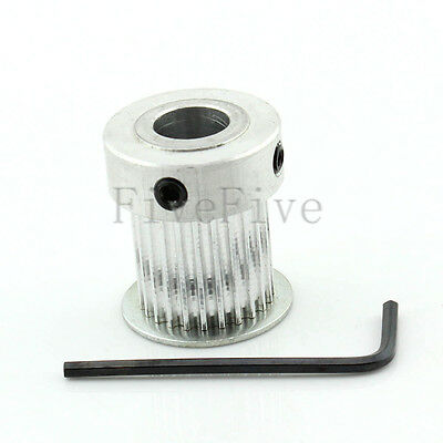 HTD 3M-24T 21mm Width Stepper Motor Aluminum Timing Belt Pulley 24 Teeth CNC