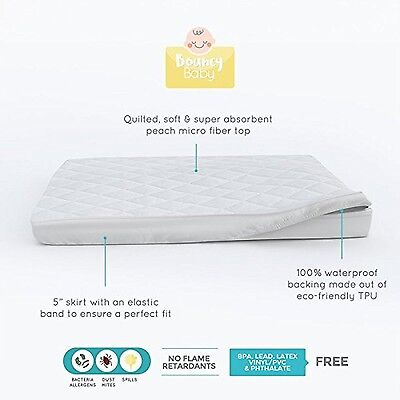 Bouncy Baby Pack N Play Hypoallergenic Waterproof Mattress Protector