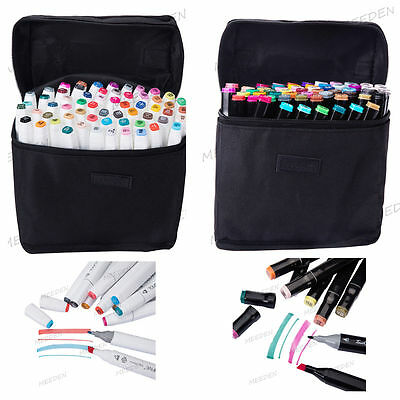 60 Colors Double Sketch Markers Art Drawing Mark Pen Set Christmas Gift