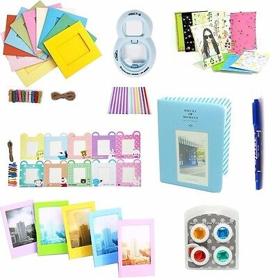 8 in 1 Instant Camera Accessories Bundle Set Kit for Fujifilm Instax Mini 8 Blue