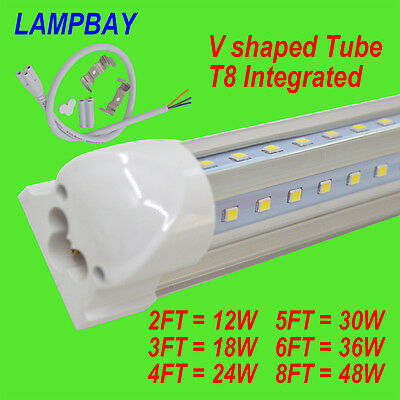 4-Pack LED Tube V shaped T8 Integrated with accessory 2FT.3FT.4FT.5FT.6FT.8FT.