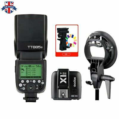 UK Godox TT685S 2.4G HSS TTL Camera Flash+X1T-S Trigger for Sony+ Bowens Bracket