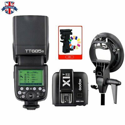 UK Godox TT685N 2.4G HSS TTL Camera Flash+X1T-N Trigger for Nikon+Bowens Bracket