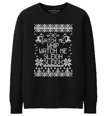 Watch Me Whip Watch Me Sleigh Jumper Gift Present Christmas Fashion Sas STP330