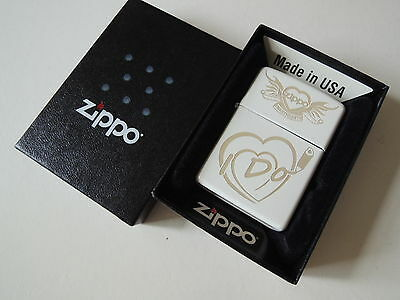 Authentic Zippo Lighter - I DO ZSH007R - No Inside Guts Insert