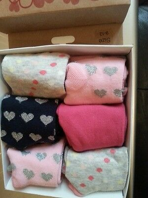 Girls Box Of Socks Size 9-12 BNIB Stocking Filler/Xmas Gift/Present FREE POST