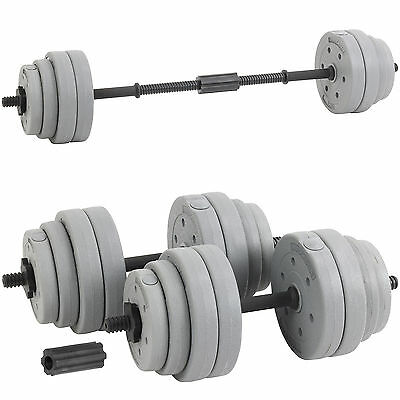Hardcastle Silver 30Kg Dumbbell Set Gym Weight Lifting Bar Weights Kit Dumbbells