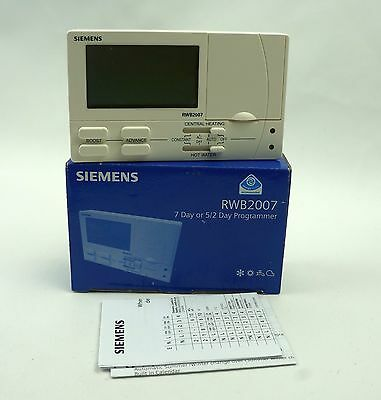 Siemens Landis & Staefa RWB2007 5/2 Or 7 Day Twin Channel Electronic Programmer