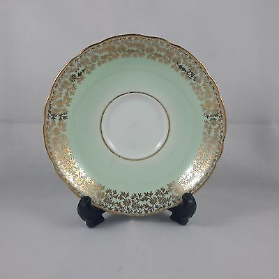 China Replacement Saucer Adderley Green with Gold Chintz