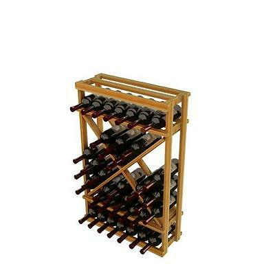 Wine Cellar Innovation Premium Redwood Winemaker Series Open Diamond Cube, 3 ft.