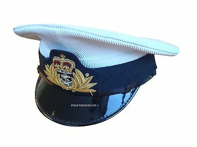 British Army - Royal Navy Officers Peaked Cap - Size 57cm - Grade 1 - SP1745