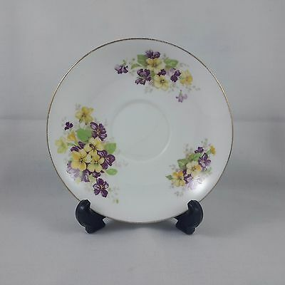 China Replacement Saucer by Salisbury  Yellow and Purple Flowers