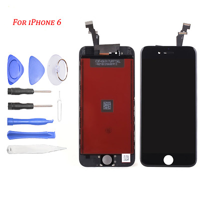 Black LCD Display + Touch Screen Digitizer Assembly Replacement for iPhone 6 NEW