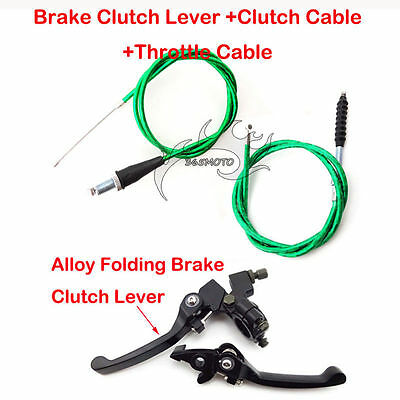 Green Clutch Cable Brake Lever For CRF50 SSR KLX 110cc 125cc 150cc Pit Dirt Bike