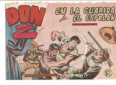 DON Z nº 9 TEBEO ORIGINAL 1959 EN LA GUARIDA DE EL ESPOLON MAGA Serchio F.Amorós