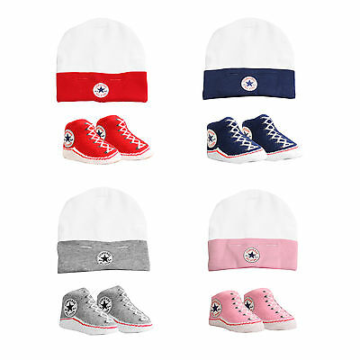 CONVERSE Baby Hat & Sock Set (0-6 Months)