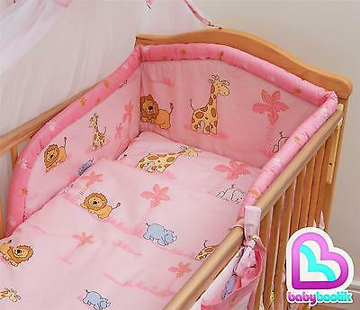 3 Piece Baby Bedding Set with Thick Bumper for 120x60 cm Cot - Pattern 11