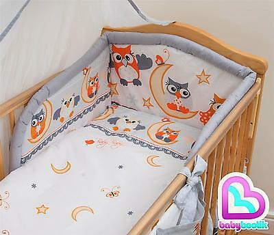3 Piece Bedding Set with Thick Bumper for 140x70 cm Baby Cot Bed - Pattern 6