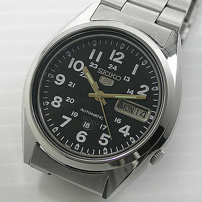 Japan Seiko 5 Automatic 7009 17 Jew Day/date For Men Stanless Steel