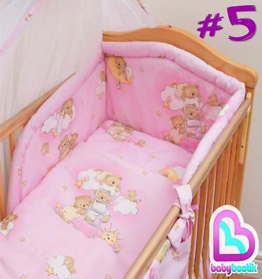 5 Piece Baby Bedding Set with Thick Bumper for 120x60 cm Cot - Pattern 5