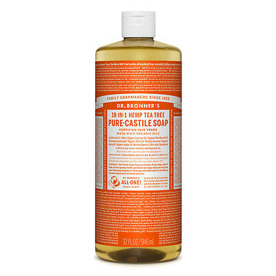 Dr. Bronner's Pure-Castile Liquid Soap - Tea Tree 946ml Bronners