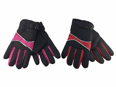 Womens Ladies Waterproof Winter Thermal Snowboard Ski Skiing Snow Gloves