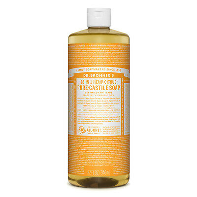 Dr. Bronner's Pure-Castile Liquid Soap - Citrus Orange 946ml Bronners
