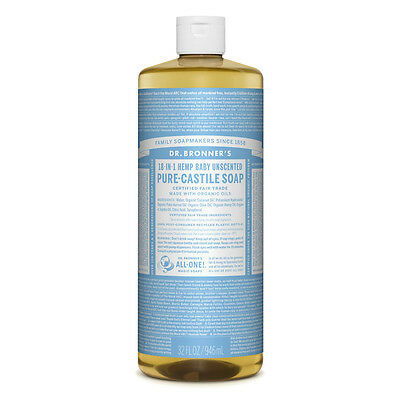 Dr. Bronner's Pure-Castile Liquid Soap - Baby Unscented 946ml Bronners