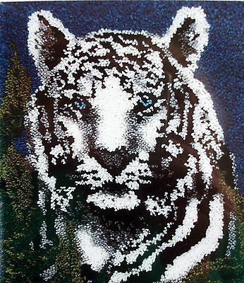 "Latch Hook Rug Canvas Kit ""white Tiger"""