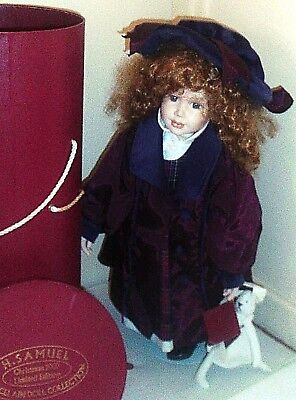 HAND-CRAFTED PORCELAIN DOLL by H SAMUEL ~ LIMITED EDITION 50 cm on STAND in BOX
