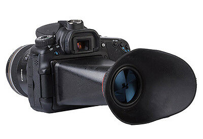 """NEW 3""""inch LCD hood & view finder viewer extender for Canon 5DII 7D 50D 500D"""