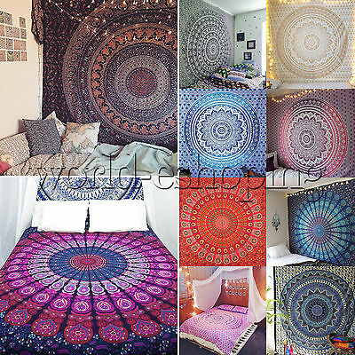 Twin Hippie Indian Tapestry Wall Hanging Mandala Throw Bedspread Gypsy Cover New