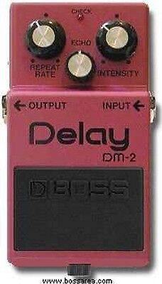 Boss Dm-2 Analogue Delay Guitar Effects Pedal Made In Japan Black Label 1982