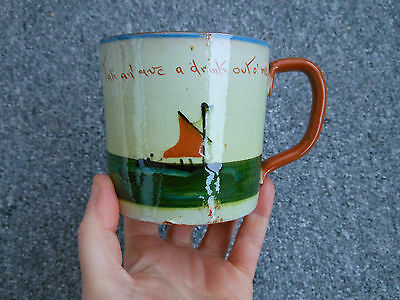 Vintage Torquay Motto Ware mug tak an' ave a drink out o' me