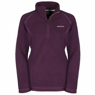 Craghoppers Womens Bronwyn Half Cable-Knit Fleece Jumper Top in Rioja *RRP £55**