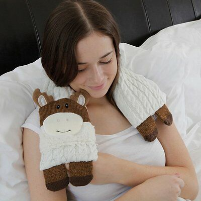 Aroma Home Knitted Moose Microwave Neck Warmer Wrap Microwavable Heat Pack