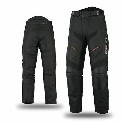 NEW Waterproof Windproof Vented Motorbike Motorcycle Scooter Trouser Pant black