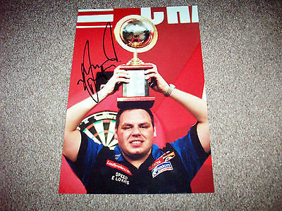 SALE ADRIAN LEWIS JACKPOT DARTS HAND SIGNED PHOTO AUTHENTIC GENUINE + COA - 12x8
