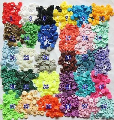 50 SETS/LOT 1 corlor  clothing accessories sold KAM T5 baby snap buttons