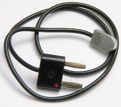 "Leitz Leica PC Male to 1/2"" Bi-Post Flash Cable - 18"" Cord - VINTAGE V137"