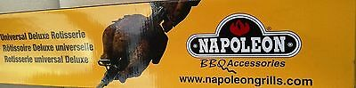 Napoleon Universal Deluxe Rotisserie Kit. Brand New in Box! Fits any Brand Grill