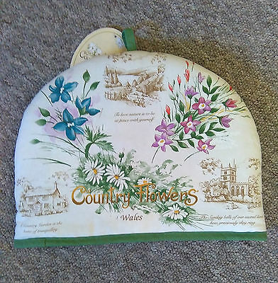 Welsh country flowers tea cosy / teapot cover. Country kitchen . Great gift